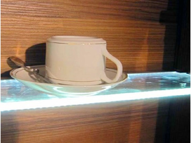 Pleasant Aluminium Led Profile For Edge Lighting Glass And Acrylic Shelves Download Free Architecture Designs Embacsunscenecom