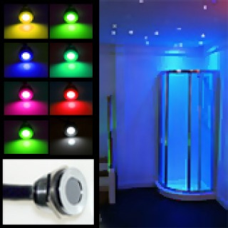 Mini Colour Changeable LED Plinth / Deck Light (Waterproof IP67, 12vdc)