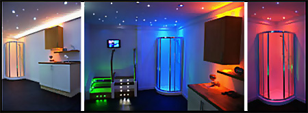 Waterproof Colour Changing LED Plinth Lights for Bathroom ...