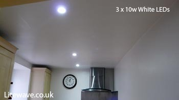 10w LED Downlights fitted in kitchen