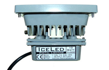 10w ICELED RGB Flood Light -view from above