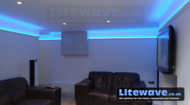 Aluminium Wall Uplighter with LED Strip
