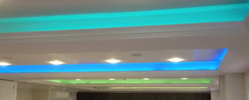 LED Strip used in a Conference Room