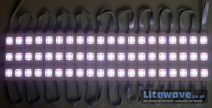 RGB LED Modules Displaying White