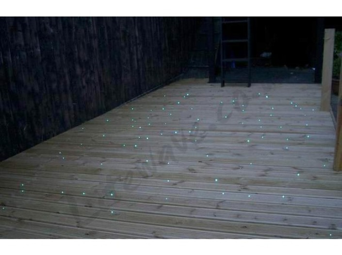 Fiber Optics used to light up decking in the evening