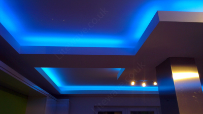 Colour Changing RGB LED Tape around ceiling