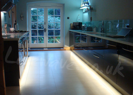 LED Tape fitted both side of kitchen