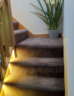 LED Tape used to highlight staircase